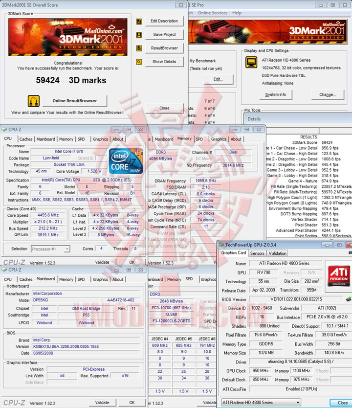 01 212 Intel DP55KG EXTREME BOARD : Overclock Results
