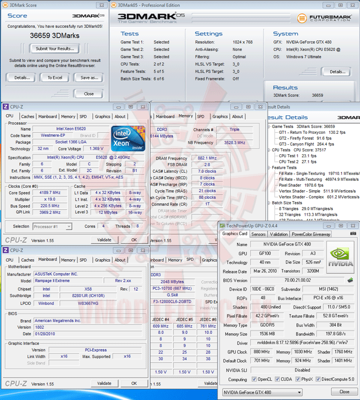 05 Intel® Xeon® Processor E5620 Overclock Results