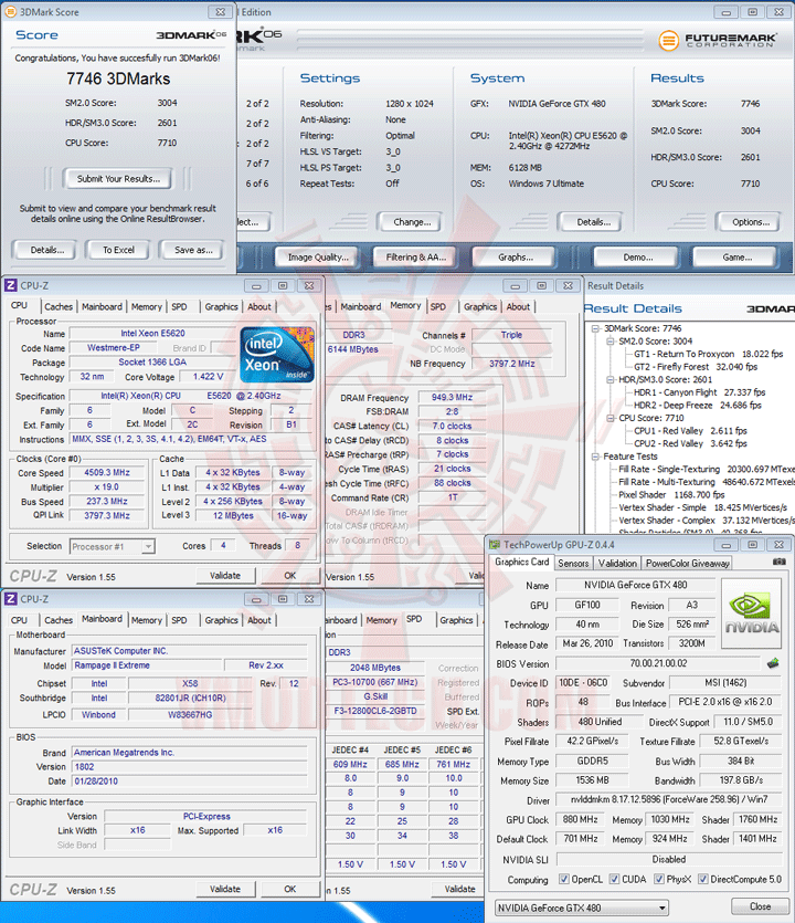 06 237 Intel® Xeon® Processor E5620 Overclock Results