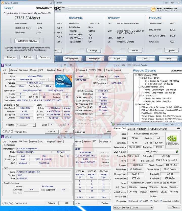 06 Intel® Xeon® Processor E5620 Overclock Results