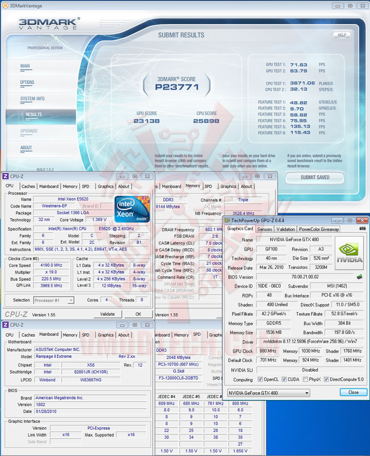 07np Intel® Xeon® Processor E5620 Overclock Results