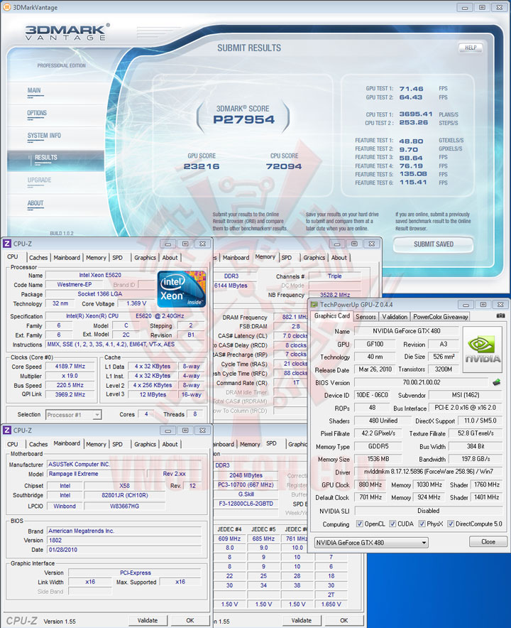 07p Intel® Xeon® Processor E5620 Overclock Results