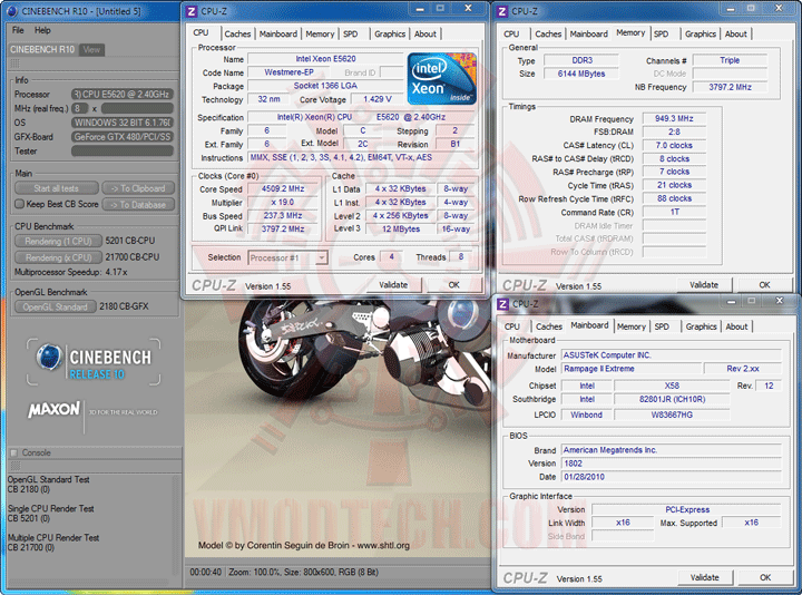 c10 237 Intel® Xeon® Processor E5620 Overclock Results