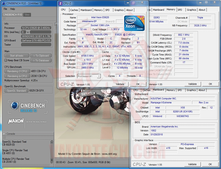 c10 Intel® Xeon® Processor E5620 Overclock Results