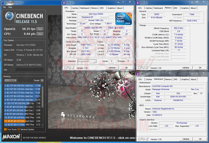 c115 1 Intel® Xeon® Processor E5620 Overclock Results