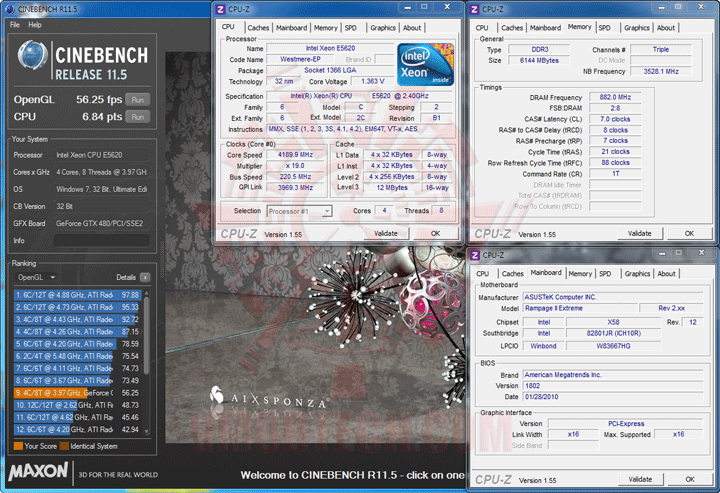 c115 2 Intel® Xeon® Processor E5620 Overclock Results