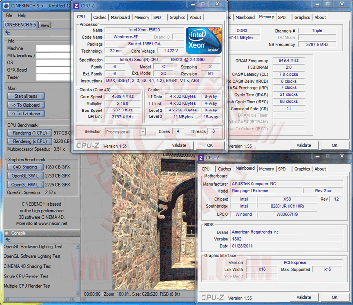 c95 237 Intel® Xeon® Processor E5620 Overclock Results