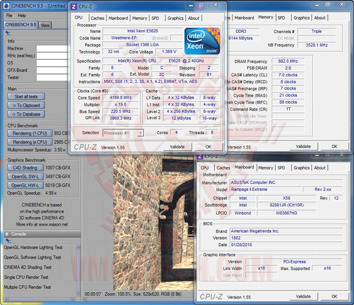 c95 Intel® Xeon® Processor E5620 Overclock Results