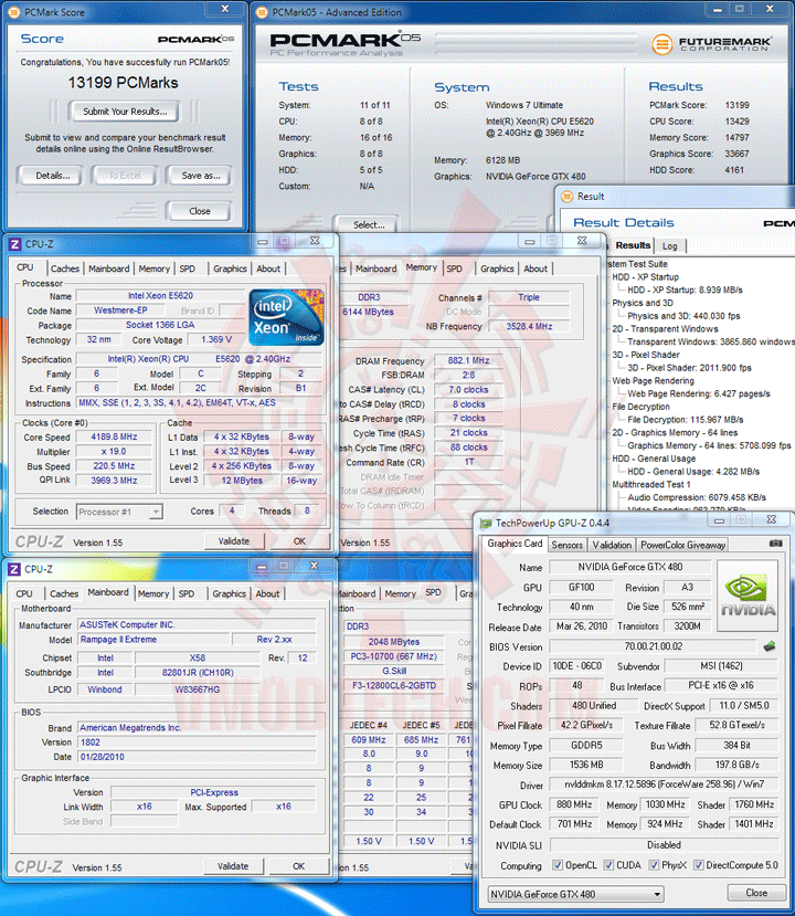 pcm05 Intel® Xeon® Processor E5620 Overclock Results