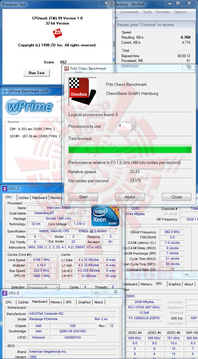 v Intel® Xeon® Processor E5620 Overclock Results