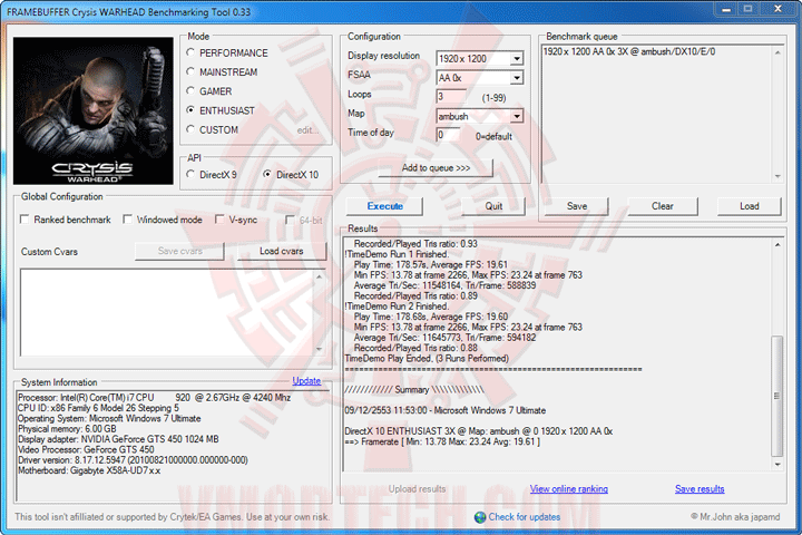 wh oc MSI N450GTS CYCLONE IGD5 GeForce GTS 450 1GB GDDR5 Review