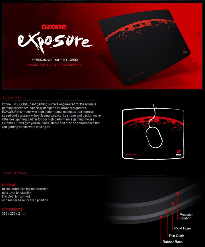 exspec OZONE RADON 5K Laser Gaming Mouse & OZONE EXPOSURE Mousepad Review