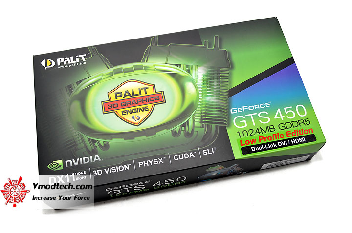 dsc 0262 PALIT GeForce GTS 450 Low Profile 1GB GDDR5
