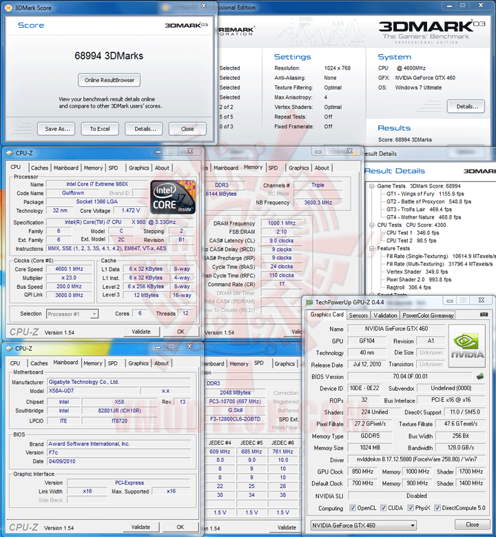 03 oc PALIT GeForce GTX 460 SONIC 1024MB GDDR5 Review