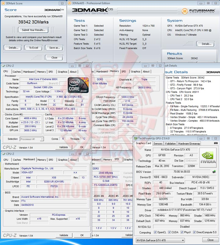 05 oc PALIT GTX 470 1280MB DDR5 Overclocking Review