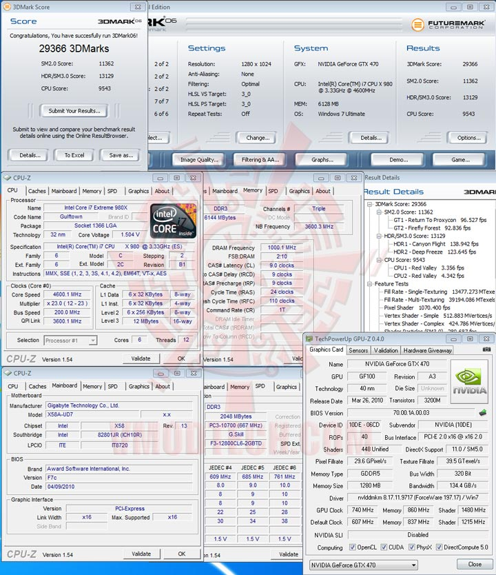 06 oc PALIT GTX 470 1280MB DDR5 Overclocking Review