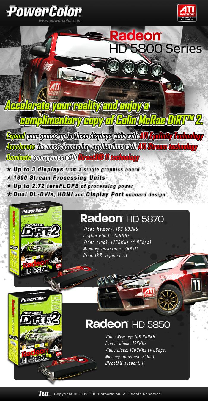 eflyer 5800 dirt2 Powercolor เอาใจสาวกเปิดตัวกราฟฟิกการ์ดรุ่นใหม่ Powercolor Radeon HD 5800