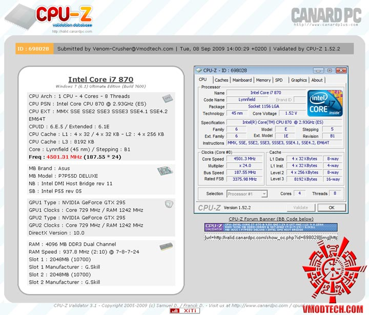 4501 Review : ASUS P7P55D Deluxe