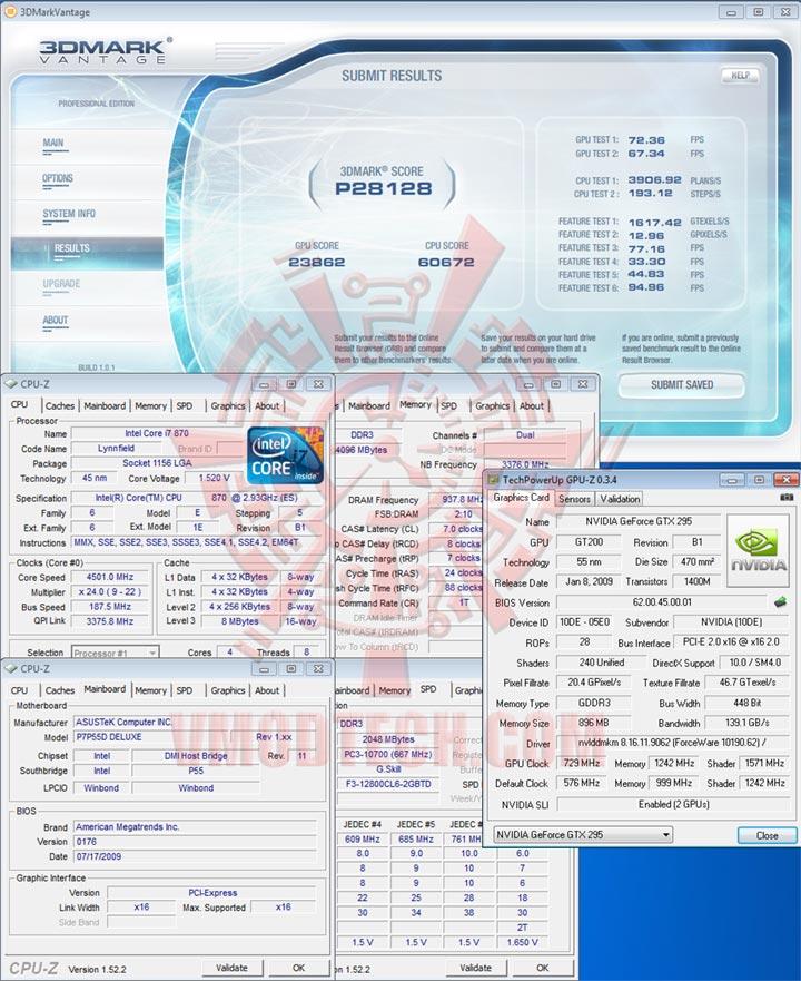 van1 4500 Review : ASUS P7P55D Deluxe