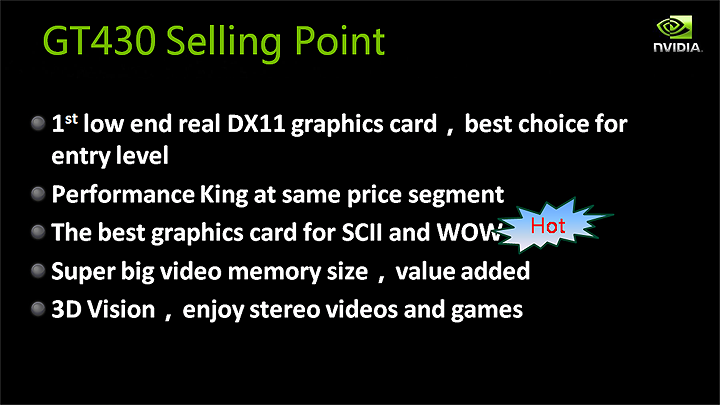 slide4 NVIDIA GT430 Best Value Real DX11 graphics card
