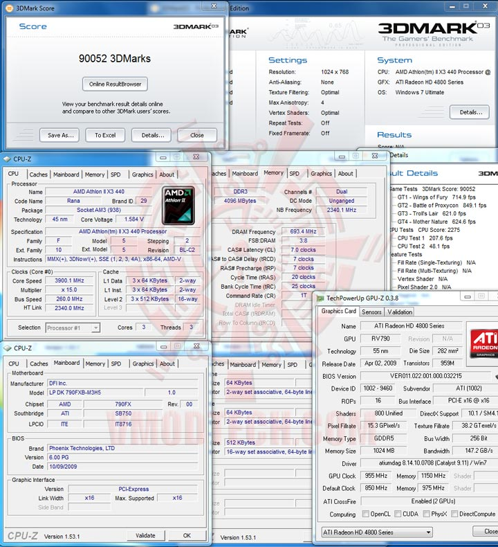 3dmark03 The First Review of AMD Athlon™ II X3 440
