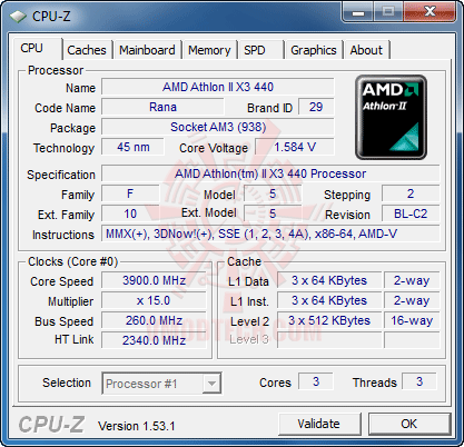 c1 The First Review of AMD Athlon™ II X3 440