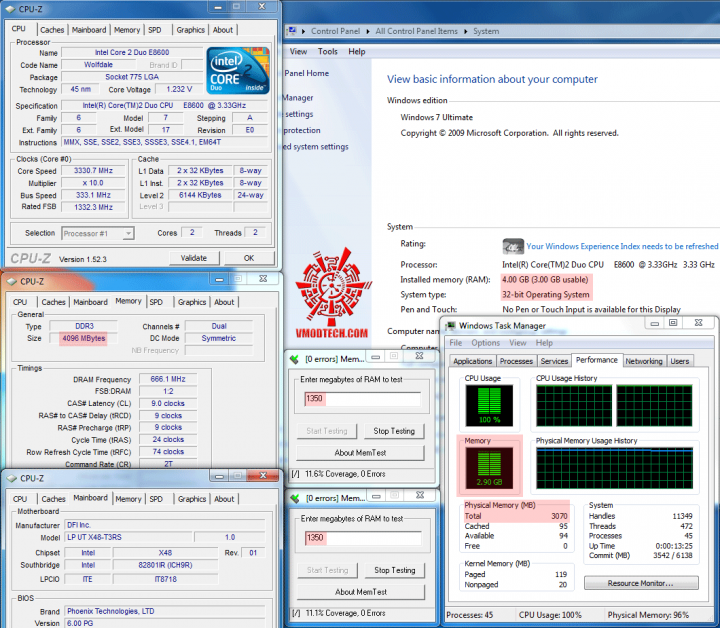 3gbtest1 720x628 วิธีแก้ Windows 7 32bit ให้เห็นmemoryเลย 3GB จนสูงสุดถึง128GB!!