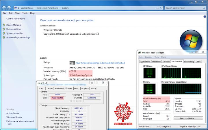 4gb32 720x450 วิธีแก้ Windows 7 32bit ให้เห็นmemoryเลย 3GB จนสูงสุดถึง128GB!!