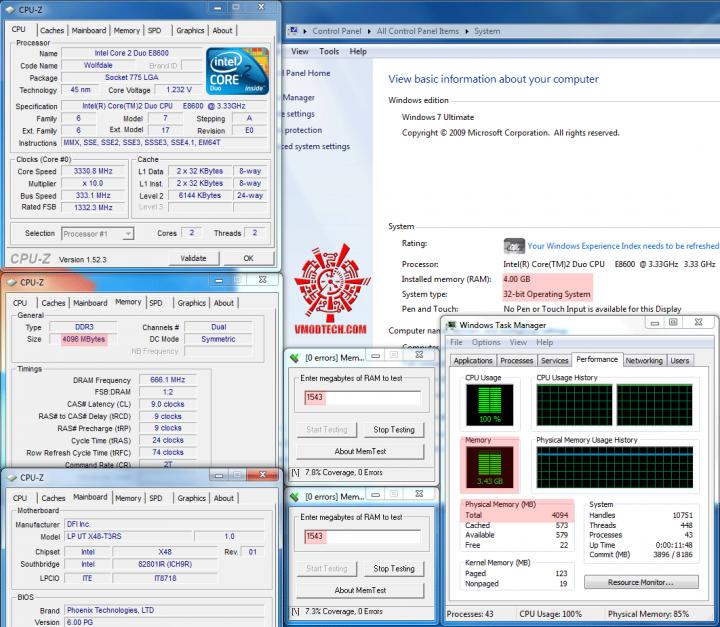 4gbtest1 720x627 วิธีแก้ Windows 7 32bit ให้เห็นmemoryเลย 3GB จนสูงสุดถึง128GB!!