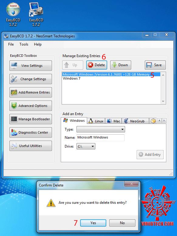 r2 วิธีแก้ Windows 7 32bit ให้เห็นmemoryเลย 3GB จนสูงสุดถึง128GB!!