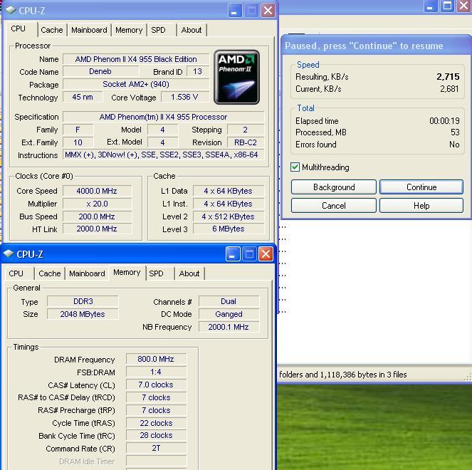 winrar Phenom II955 VS  DFI DK 790 FXB M3H5