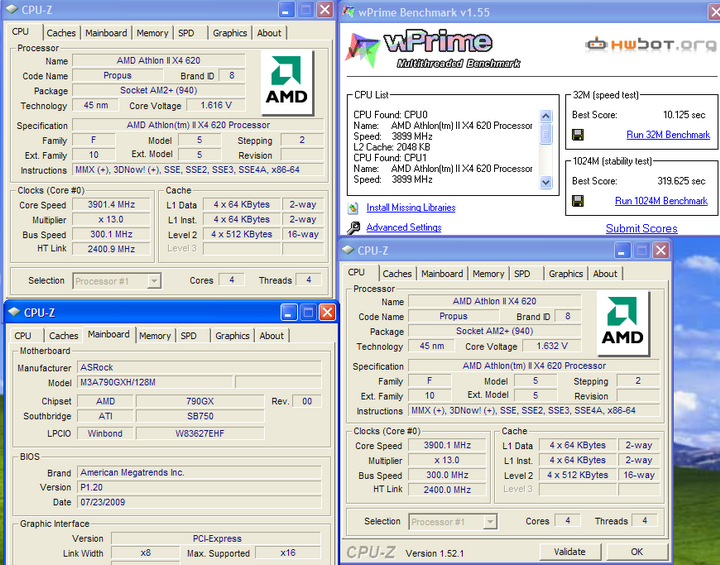 wprime AMD Athlon II X4  620 4หัวราคา4,000นิดๆ มาแล้วจ้า