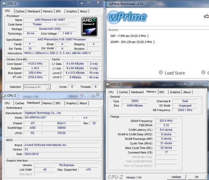 wprime13 Gigabyte GA 890FXA UD7