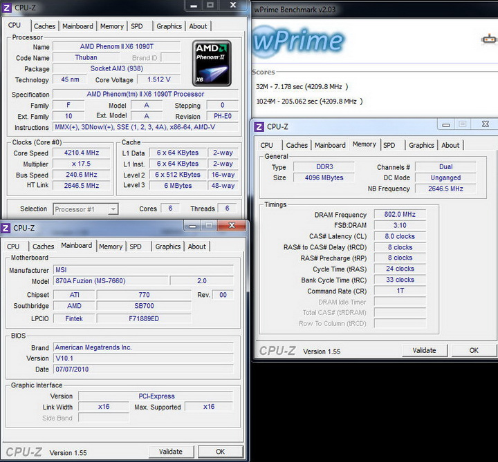 wprime14 MSI 870A Fuzion  Review  Cool......