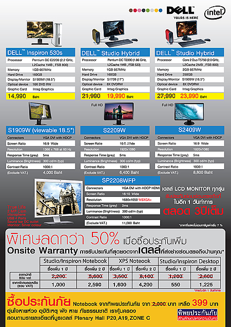 Backs DELL hot promotion in Commart