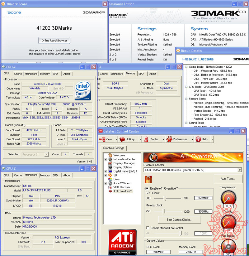 4830 default 3dmark03 First Touch !!!   PowerColor Radeon HD4830 512MB GDDR3 ที่นี่ ที่แรก...